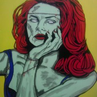 Zombie Glamour - Acrylic Paint on Canvas